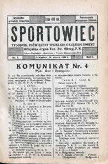 Sportowiec, 1923, nr 3
