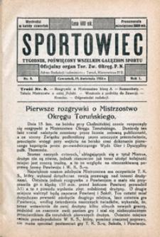 Sportowiec, 1923, nr 8
