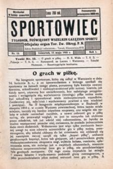 Sportowiec, 1923, nr 12