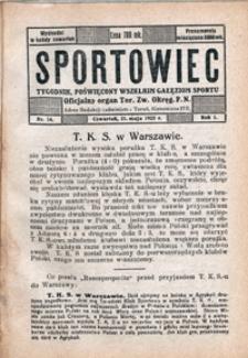 Sportowiec, 1923, nr 14