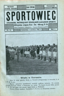Sportowiec, 1923, nr 15