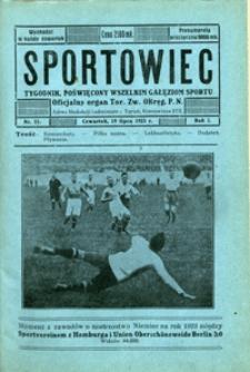 Sportowiec, 1923, nr 21