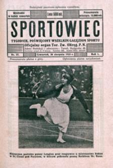 Sportowiec, 1923, nr 27