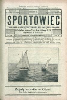 Sportowiec, 1923, nr 34