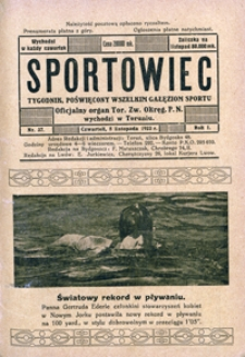 Sportowiec, 1923, nr 37