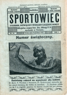 Sportowiec, 1923, nr 43