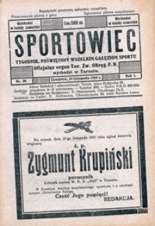 Sportowiec, 1923, nr 38