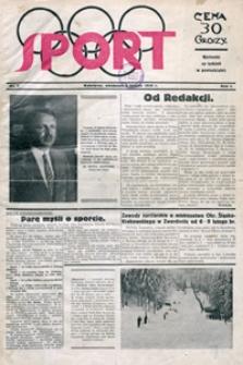 Sport, 1930, nr 1