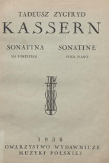 Sonatina : [nr 1] : na fortepian / oprac. i opalcował Zbigniew Drzewiecki