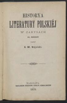 Historya literatury polskiéj w zarysach : dla młodzieży