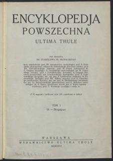 Encyklopedja powszechna Ultima Thule, T.1, A - Bhagalpur
