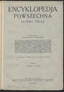 Encyklopedja powszechna Ultima Thule, T.3 , Delbrück - Garnier