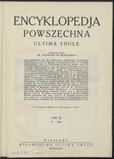 Encyklopedja powszechna Ultima Thule, T.9 , S - Spa
