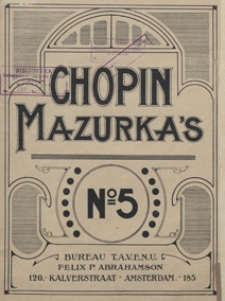 Mazurka B-dur : op.17, No 1 : [fur Pianoforte]