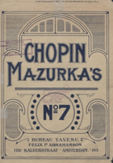Mazurka g-moll : op.24 No 1 : [fur Pianoforteś