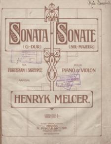 Sonata : G-dur : na fortepian i skrzypce / napisał