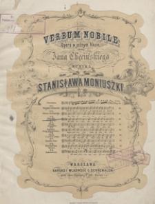 Verbum nobile : piosnka Bartłomieja z opery : G-dur : [na baryton z tow. fortepianu] / sł. Jana Chęcińskiego