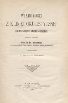 Wiadomości z Kliniki Okulistycznej Uniwersytetu Jagiellońskiego