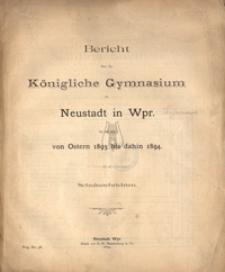 Bericht uber das Konigliche Gymnasium zu Neustadt in Westpreussen