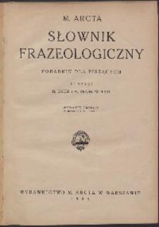 Słownik frazeologiczny: poradnik dla piszących