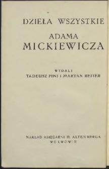 Dzieła wszystkie Adama Mickiewicza