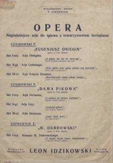 Eugeniusz Oniegin : aria Leńskiego przed pojedynkiem z II aktu opery : na fortepian z tekstem / oprac. M. Skolimowski