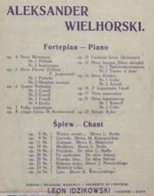 Boleśnie i miło : pieśń op. 6 no 3 : na mezzosopran i fortepian / słowa polskie P. Maszyńskiego