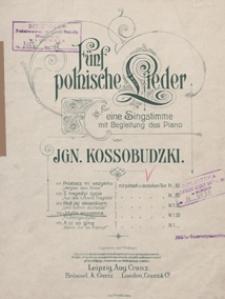 Idylla wiosenna = Frühlingsidylle : [pieśń] f-moll : für eine Singstimme mit Begleitung des Piano / Text von K. Laskowski ; ins Deutsche übertr. von J. Guranowski