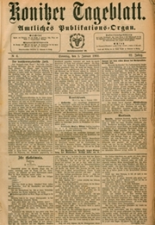 Konitzer Tageblatt.Amtliches Publikations=Organ, nr.4