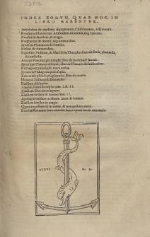 Index Eorum, Quae Hoc In Libro Habentur [...]