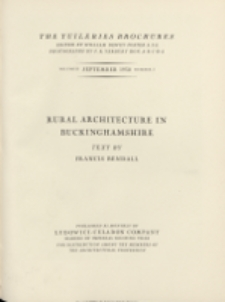 The Tuileries brochures : a series of monographs on European architecture with special reference to roofs of tile. 1930, Vol II, No 5