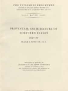 The Tuileries brochures : a series of monographs on European architecture with special reference to roofs of tile. 1931, Vol III, No 3 May