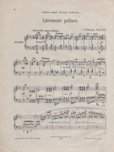 """Intermezzo pollaco c-moll : op.14 no 5 : pour piano [z :] """"Humoresques de Concert"""" : cahier 2 - moderne"""