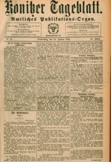 Konitzer Tageblatt.Amtliches Publikations=Organ, nr.13