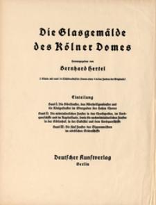Die Glasgamälde des Kölner Domes