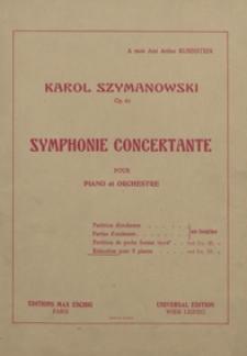 Symphonie concertante : op.60 : pour piano et orchestre / réduction pour 2 pianos par Grégoire Fitelberg
