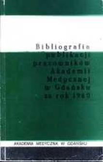 Bibliografia Publikacji Pracowników Akademii Medycznej w Gdańsku za rok 1980