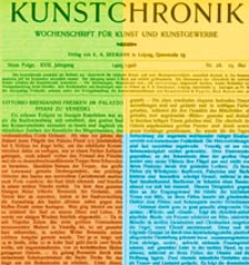 Kunstchronik : Wochenschrift für Kunst und Kunstgewerbe, 1905/1906, Jg. 17