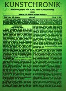 Kunstchronik : Wochenschrift für Kunst und Kunstgewerbe, 1907/1908, Jg. 19
