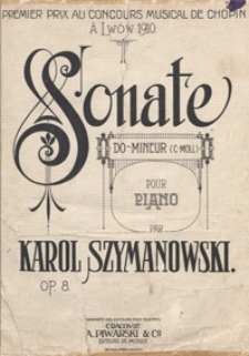 Sonate : c-moll : op. 8 : pour piano