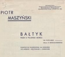 Bałtyk : pieśń o polskim morzu : G-dur : na 4-głosowy chór męski a cappella / wiersz Antoniego Bogusławskiego