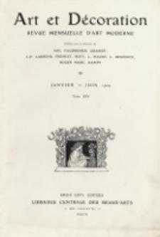 Art et Décoration : revue mensuelle d'art moderne. 1909, Tome XXV, Janvier-Juin
