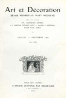 Art et Décoration : revue mensuelle d'art moderne. 1909, Tome XXVI