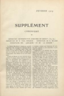 Art et décoration : revue mensuelle d'art moderne. 1909 Suppleément Chronique Févier