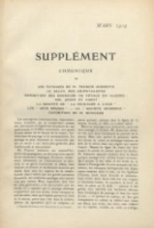 Art et décoration : revue mensuelle d'art moderne. 1909 Suppleément Chronique Mars
