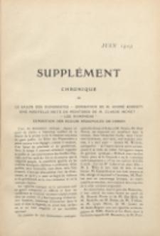 Art et décoration : revue mensuelle d'art moderne. 1909 Suppleément Chronique Juin