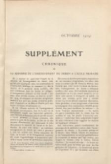 Art et décoration : revue mensuelle d'art moderne. 1909 Suppleément Chronique, październik