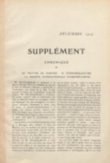 Art et décoration : revue mensuelle d'art moderne. 1909 Suppleément Chronique, décembre