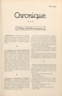 Art et Décoration : revue mensuelle d'art moderne. 1922 Chronique, avril