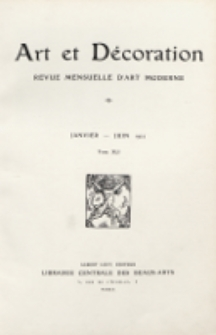 Art et décoration : revue mensuelle d'art moderne. 1922